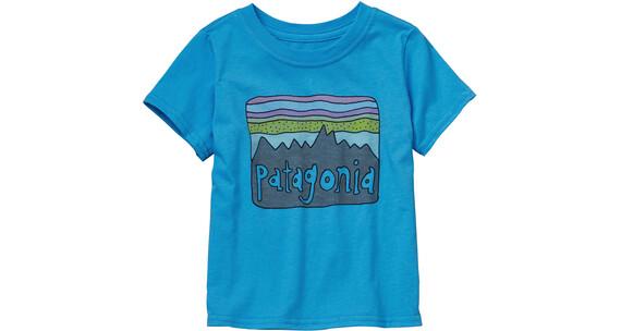 Patagonia Baby Fitz Roy Skies Cotton T-Shirt Electron Blue